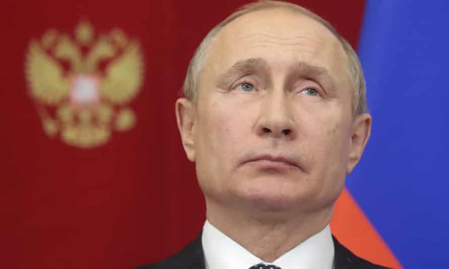 Russian president Vladimir Putin deplored Nato's 'destructive' policy of expansion in the Balkans.
