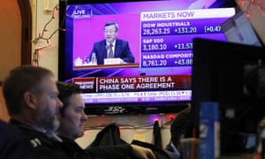 Wall Street on Friday, as China and the US both announced they'd reached a trade deal