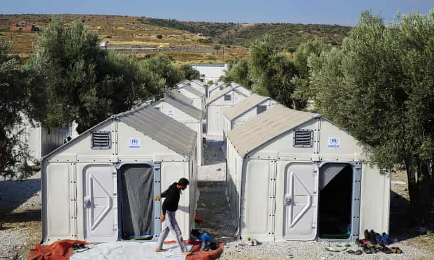 'It's a thousand times better' … Better Shelters at a transit camp on the Greek island of Lesbos in 2015.