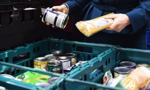 Goods at a food bank