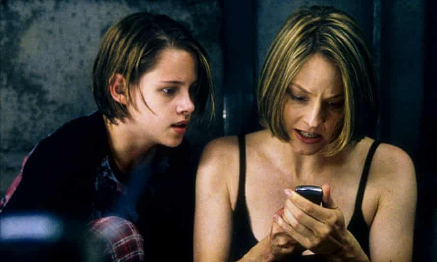 Stewart with Jodie Foster in Panic Room.