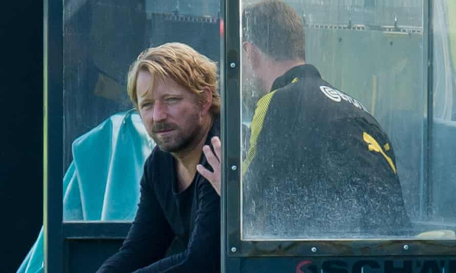 Sven Mislintat looks on during a training session at Borussia Dortmund in September.