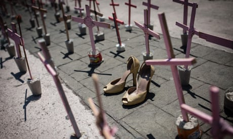 A protest against femicides in Mexico in Ecatepec in 2016.