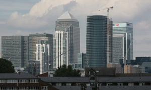 London a view of Canary Wharf