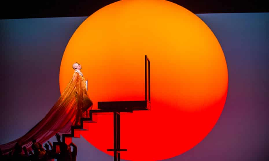 Eye-catching tableaux ... Anthony Roth Costanzo as Akhnaten in Phelim McDermott's production, for ENO, of Glass's Akhnaten.