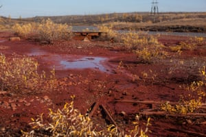 The Daldykan river turned red