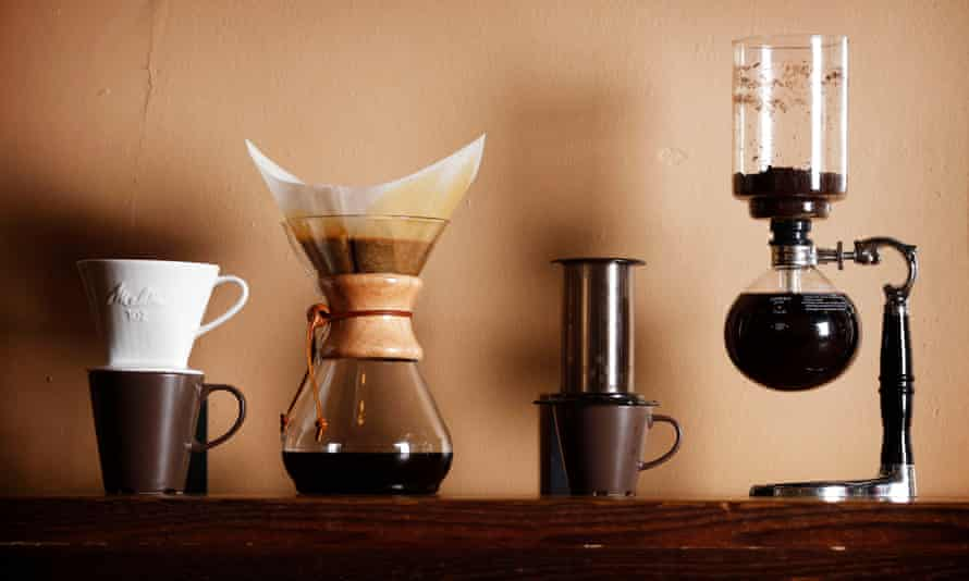 There's more than one way to skin a cat: the pour-over, chemex, aeropress, and vacuum pot.