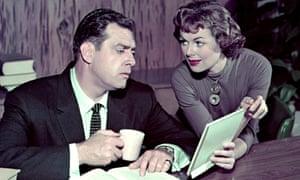 Barbara Hale and Raymond Burr