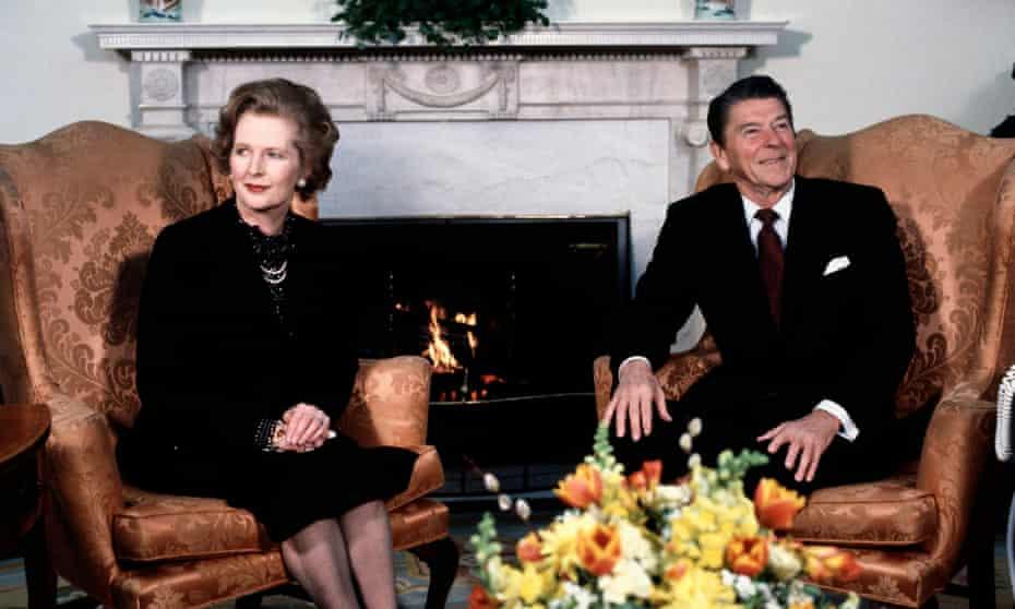 Ronald Reagan with Margaret Thatcher 1981