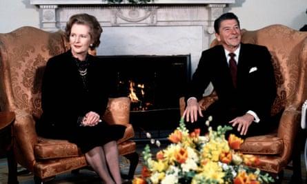 Margaret Thatcher with Ronald reagan, 1981.
