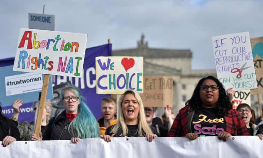 A pro-choice protest in Belfast, Northern Ireland, October 2019