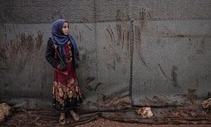 A refugee camp in north-eastern Idlib province.