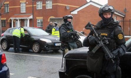 Armed police in Dublin
