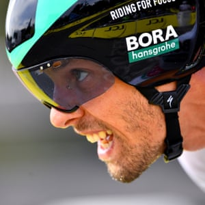 Daniel Oss of Team Bora - Hansgrohe during Stage 20 Individual Time Trial stage from Lure to La Planche Des Belles Filles.