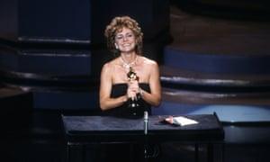Sally Field accepting her best actress award.