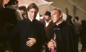 Richard Chamberlain and Christopher Plummer in The Thorn Birds, 1983