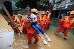 Hunan province, ChinaChinese rescuers evacuate local residents in floodwater caused by a heavy rainstorm in Hengyang after heavy rains in east Hunan