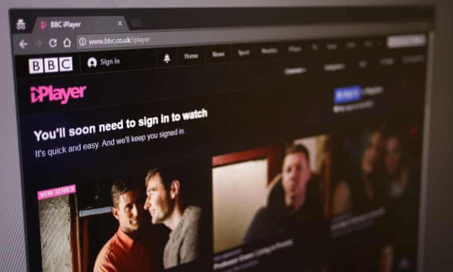 BBC iPlayer screen