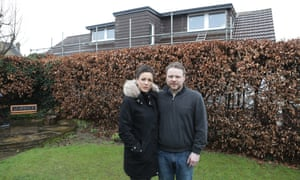 Damien and Emma Flannagan whose property is now overlooked by a neighbours development.
