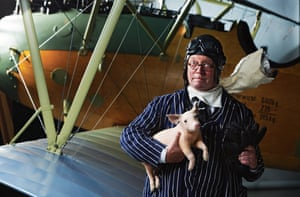 Fergus Henderson photographed at the Royal Air Force Museum