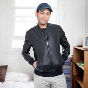 Mohammed in his bedroom
