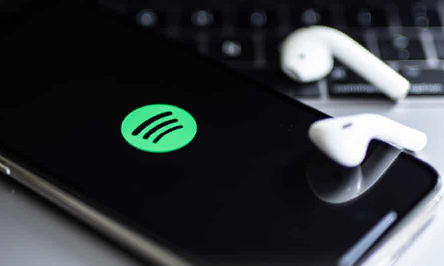 Spotify logo on smart phone