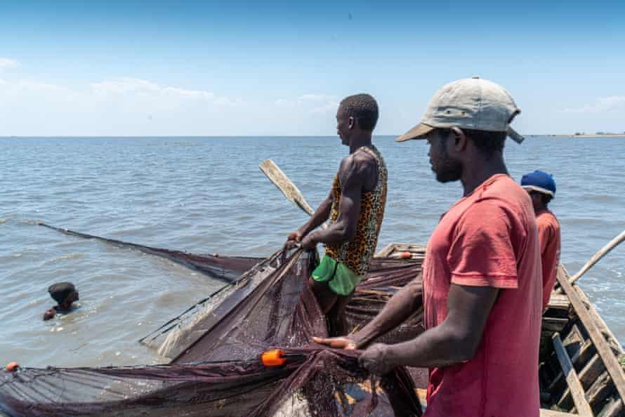 Fishers on Lake Chilwa, Zomba, Malawi, October 2020.
