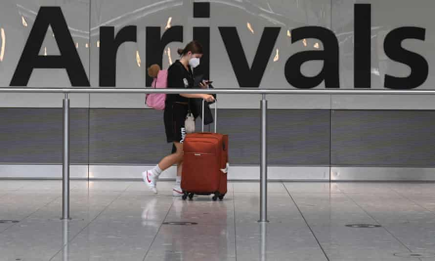From Monday, fully vaccinated travellers from the EU and US will be treated the same as UK residents