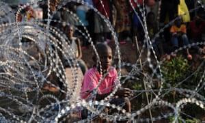 A child in a refugee camp near Bangui in 2013