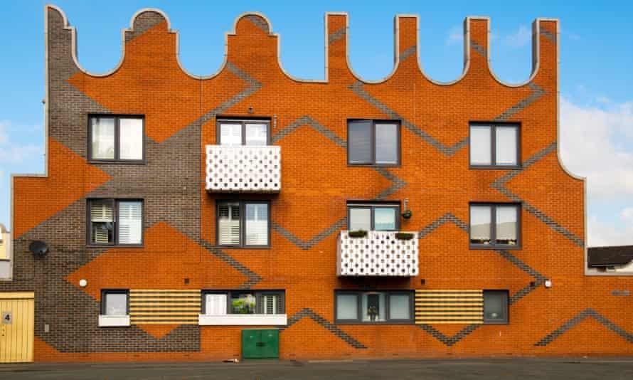 Social housing development in New Islington Square, Manchester.