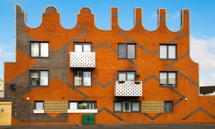 Social housing designed by FAT, at New Islington Square, Manchester.