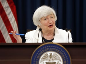 Federal Reserve Chair Janet Yellen speaking at today's press conference