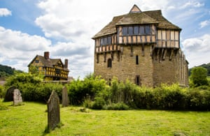 Stokesay Castle near Ludlow Shropshire UK