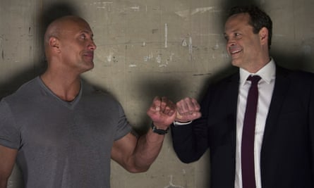 Dwayne 'The Rock' Johnson (left) and Vince Vaughn in Fighting With My Family.