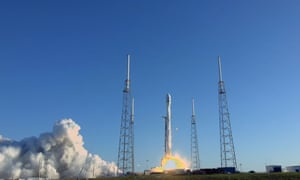 NASA launches its planet-hunting Transiting Exoplanet Survey Satellite at Cape Canaveral.