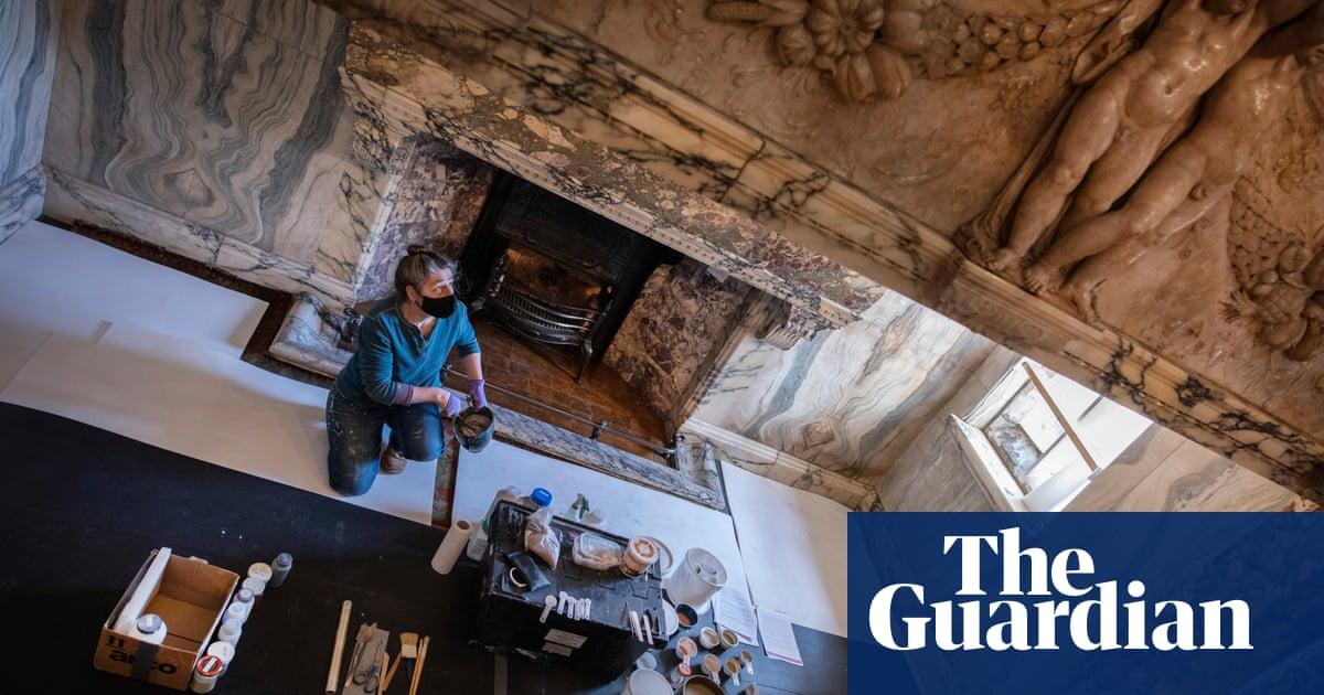 Climate change: rainfall threatens spectacular Northumberland carved fireplace
