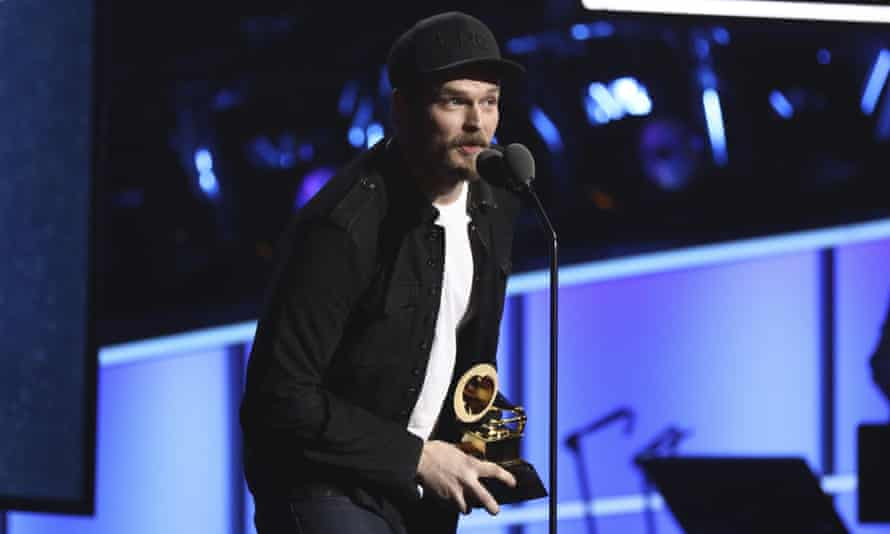 Steven William Johnson pictured at the Grammy awards, 28 January 2018.