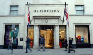 Burberry store exterior Bond Street, London