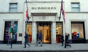 A Burberry store on New Bond Street, London