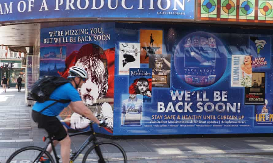 A West End theatre during the coronavirus outbreak, London, 22 June 2020