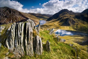 This view of Cwm Idwal, a valley in Snowdonia, has won Michal Tekel the National Parks landscape photograph competition. Taken from the Glyderau mountains, it shows the lakes Llyn Idwal and Llyn Ogwen.