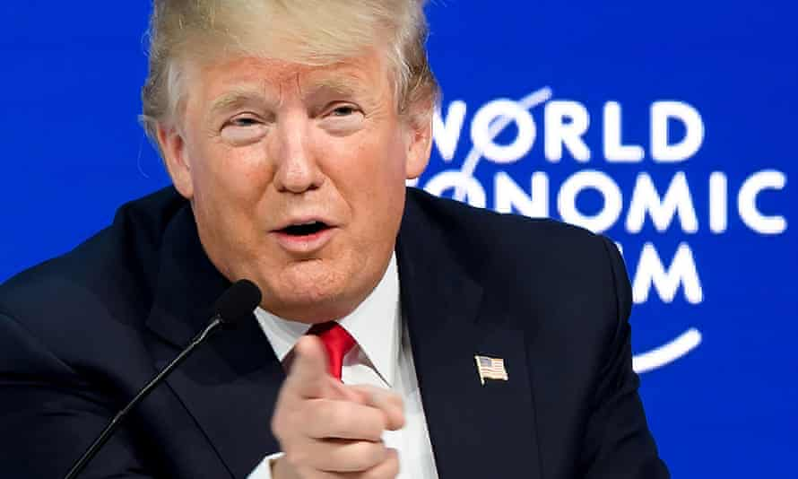 US President Donald Trump at the WEF
