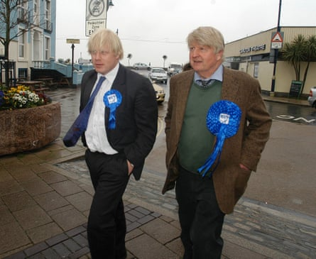 Johnson with father Stanley in Devon April 2005