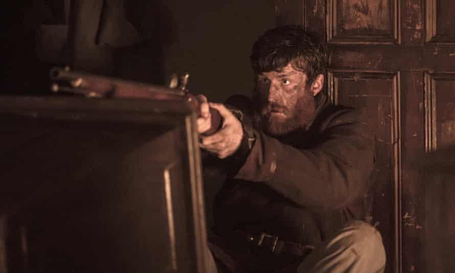 Coldly terrifying … James Frecheville in Black 47.