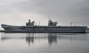 A general view of HMS Queen Elizabeth Aircraft Carrier at Rosyth Dockyard