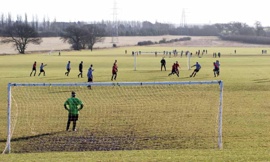 Sunday League football at Harbury Lane, Leamington Spa