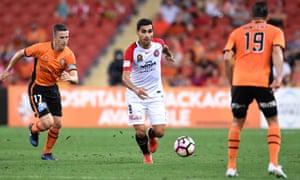Dimas Delgado in action during the round 12 A-League game