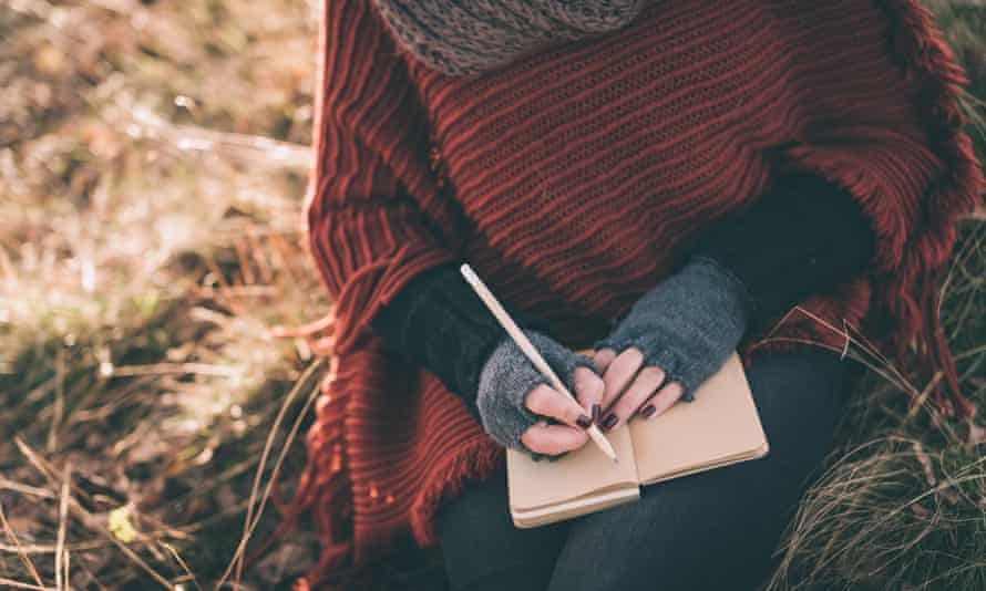 Writing thoughts in a journal can help keep mental wellbeing in check.