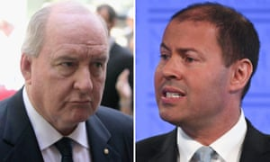 Alan Jones and Josh Frydenberg