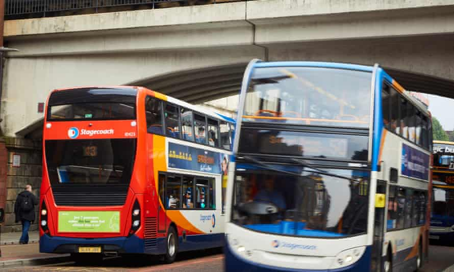 Buses on Oxford Road in Manchester.